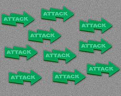 Attack Tokens - Green (Set of 10)