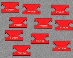 Form Tokens - Red (Set of 10)