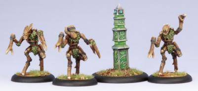 Hordes: (Circle Orboros) Sentry Stone & Mannikins