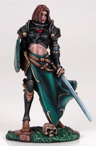 Visions In Fantasy: Female Cavalier w/Long Sword & Shield
