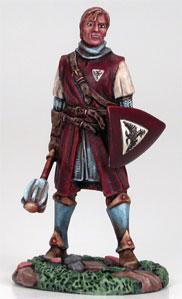 Visions In Fantasy: Young Male Cleric w/Mace & Shield