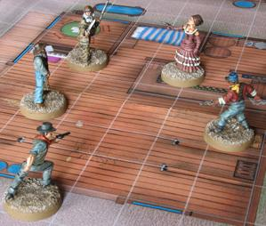 em4 Pre-painted Miniatures: Wild Old West Heroes Set  2 - Shootout