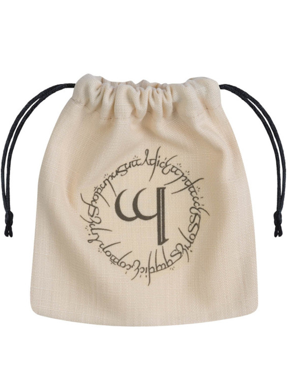 Dice Accessories: Elvish Beige & black Dice Bag