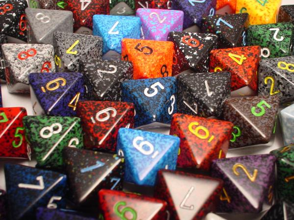 Chessex Bulk Dice Sets: Assorted Speckled d8 Bag (50)
