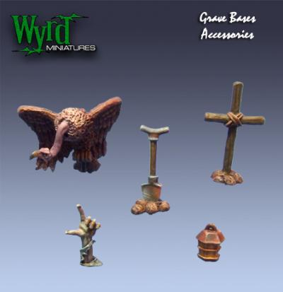 Malifaux: (Base Inserts) Graveyard Accessories