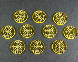 Over Watch Tokens (Set of 10, Transparent Yellow)