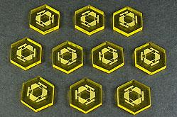 Space Tokens: Space Mine Tokens (Set of 10, Trans. Yellow)