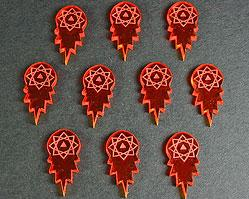 Space Tokens: Space Torpedo Tokens (Set of 10, Fluor. Amber)