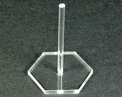 Flight Stands: 1.375 inch Hex Acrylic Flight Stands, 25 ct