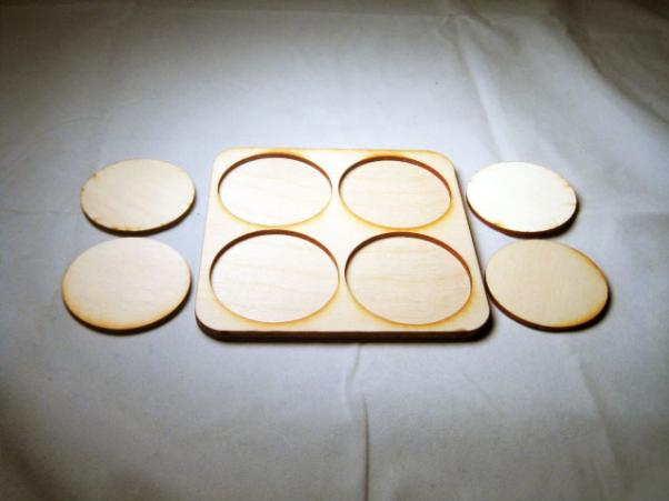 Skirmish Tray: 50mm Round Bases (4 Models)