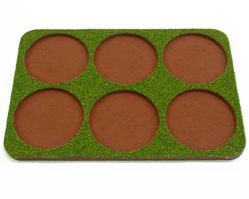 Skirmish Tray: 50mm Round Bases (6 Models)