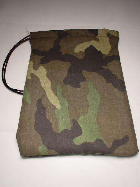Camo Print Cotton Dice Bag (5''x7'')