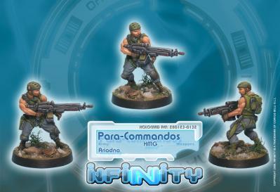 Infinity (#132) Ariadna: Para-Commandos HMG (1)