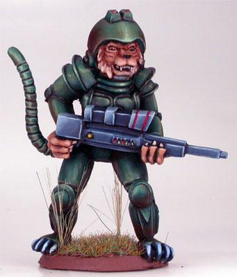 Elmore Masterworks: Cat Warrior w/Laser