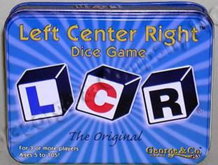 L-C-R: Left Center Right Dice Game Deluxe Metal Tin