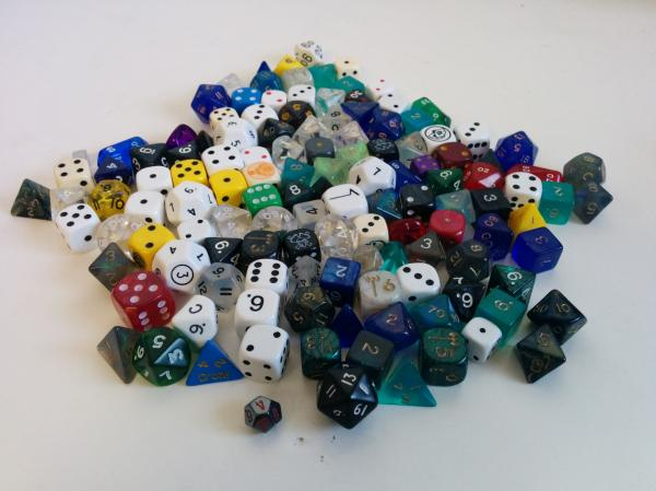 Skull & Bones Bulk Dice Sets: Assorted Polyhedral Pound of Dice (1lb.) w/Skull Dice Bag