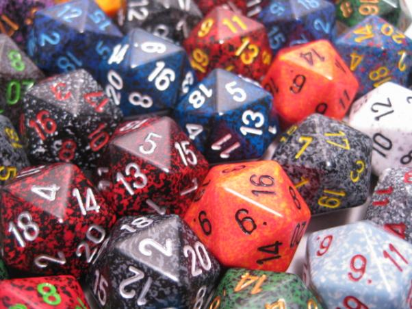 Chessex Bulk Dice Sets: Assorted Speckled d20 Bag (50)