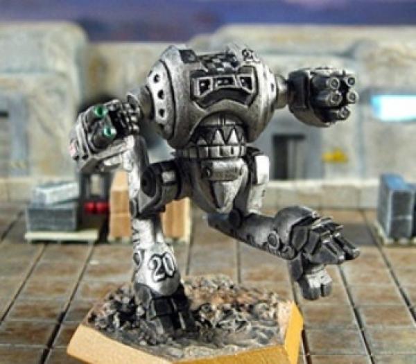 BattleTech Miniatures: Silver Fox Mech (Solaris VII)
