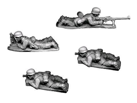 Crusader Miniatures: Fallschirmjager 5cm Mortar and AT Rifle (4)