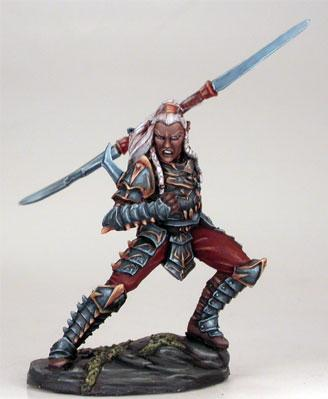 Visions In Fantasy: Male Dark Elf w/Double-Bladed Sword (1)
