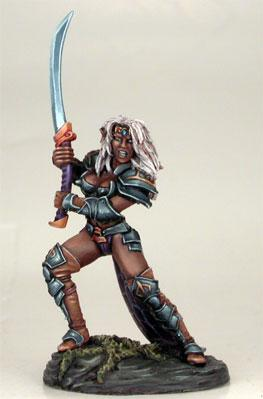 Visions In Fantasy: Female Dark Elf w/Bastard Sword (1)