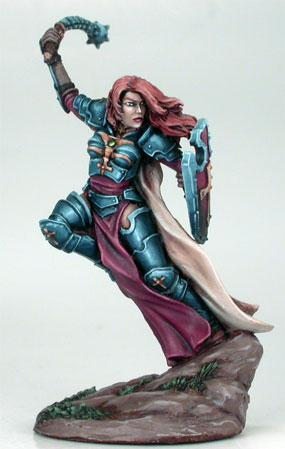 Visions In Fantasy: Female Paladin w/Morningstar (1)