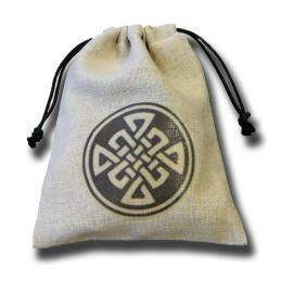 Dice Accessories: Celtic Linen Dice Bag