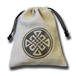 Dice Accessories: Celtic Linen Dice Bag