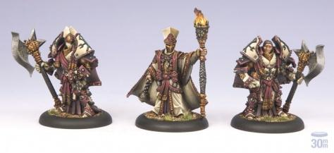Warmachine (The Protectorate Of Menoth) Visgoth Rhoven & Exemplar Bodyguards
