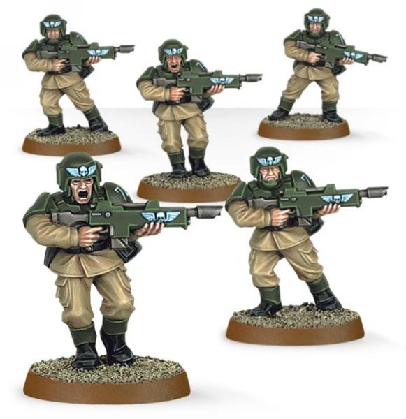 Warhammer 40K: Imperial Guard Cadians (Easy to Build)