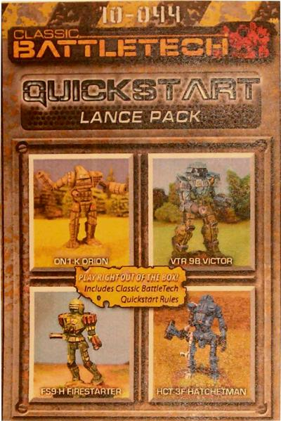 BattleTech Miniatures: Quick Start Rules Lance Pack