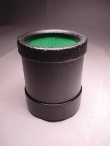 Black Plastic Dice Cup (Green Lined)