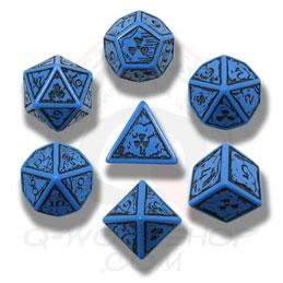 Exotic Dice Sets: Blue & Black Nuke Dice (7)