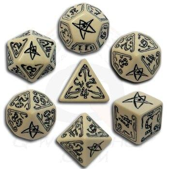 Exotic Dice Sets: Call of Cthulhu Beige & Black Dice Set (7)