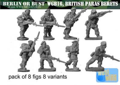 Berlin or Bust: British Paratrooper Riflemen w/ Berets (8)
