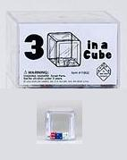 Koplow Special Dice: Red/White/Blue d6 5mm in a Clear 25mm Cube