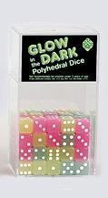 Koplow Glow in the Dark Dice: Assorted Colors d6 (1)