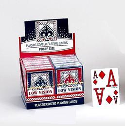 Plastic Coasted Playing and Poker Cards: Low Vision