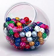 Round Dice: Assorted Opaque Colors D6 (1)