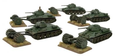Flames of War: PT34 Mine Rollers Blister Pack (x5)