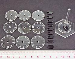 Flight Stands: 1-10 Numbered Dial & Pointers (Set of 10)
