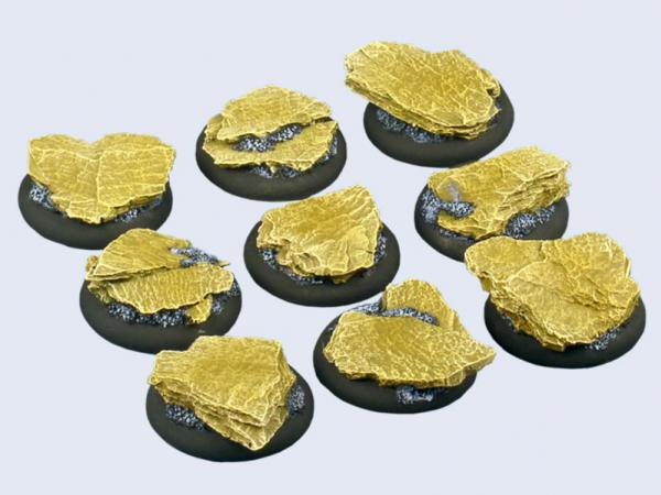 Battle Bases: Shale Bases, Warmachine Round 30mm (5)
