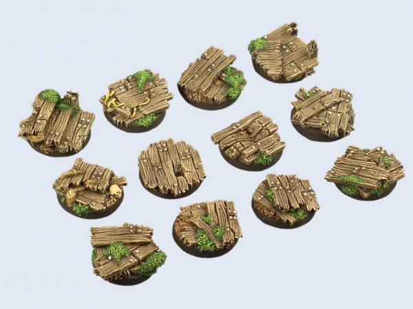 Battle Bases: Wood Bases, Round 25mm (5)