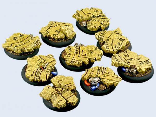 Battle Bases: Temple Bases, Warmachine Round 30mm (5)