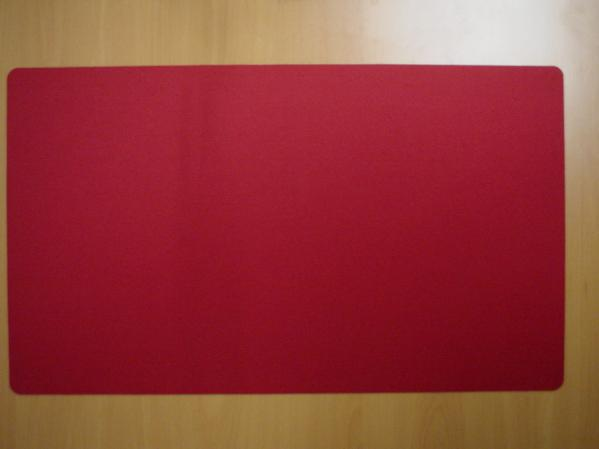 Card Game Accessories: Blank Playmat (Red)