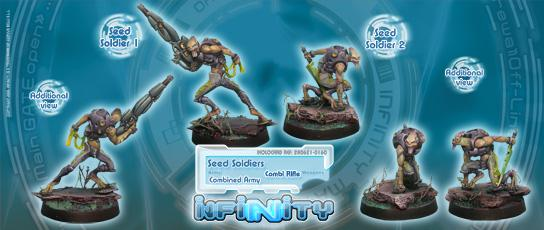 Infinity (#160) Combined Army: Seed Soldiers (Combi Rifle) (2)