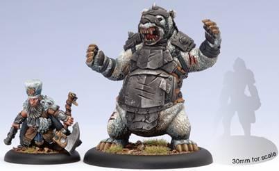 (Minions) Lesser Warlock Brun Cragback & Lug Character Heavy Warbeast