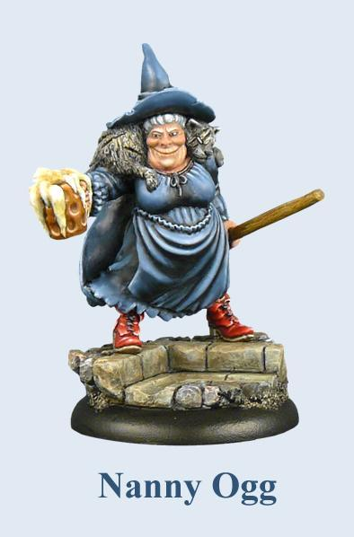 28mm Discworld Miniatures: Nanny Ogg