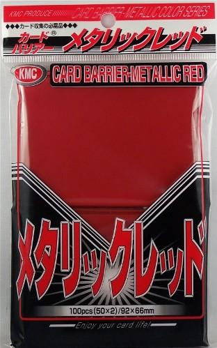 KMC Sleeves: Metallic Red 80 count