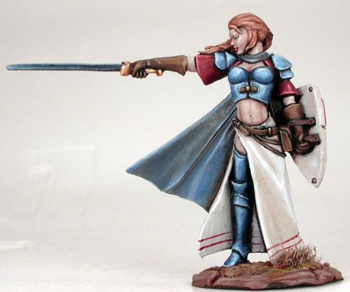 Visions In Fantasy: Female Warrior w/Long Sword & Shield